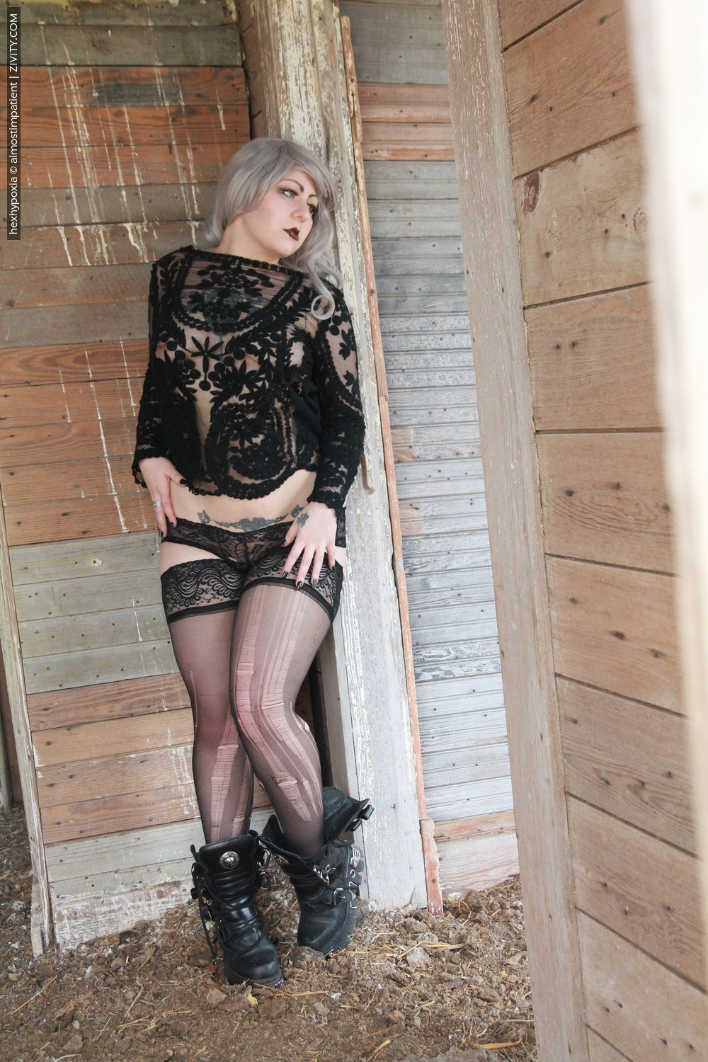 escort service in new york city #Hexhypoxia #goth #gothic #greyhair #sheer #thighs #boots #newrock #seethru #LacePanties #LacePanties #chubby #pierced #tattooed
