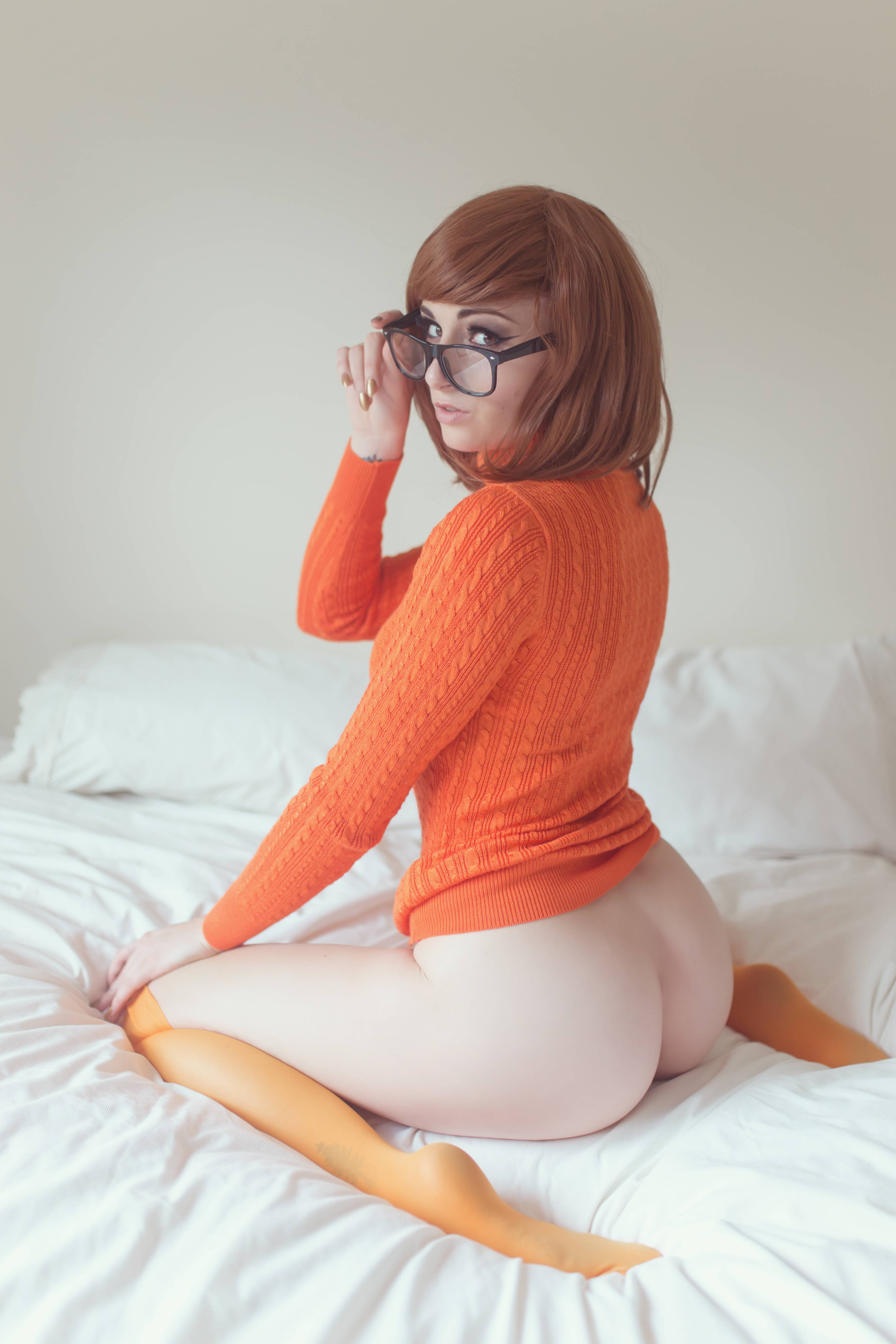 the post orgasm milking heard round the world #cosplay #glasses #scoobydoo #velma